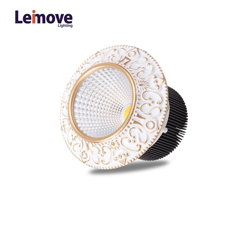 Leimove 10w slim led round downlight in best price LM8017 pearl silver/gold