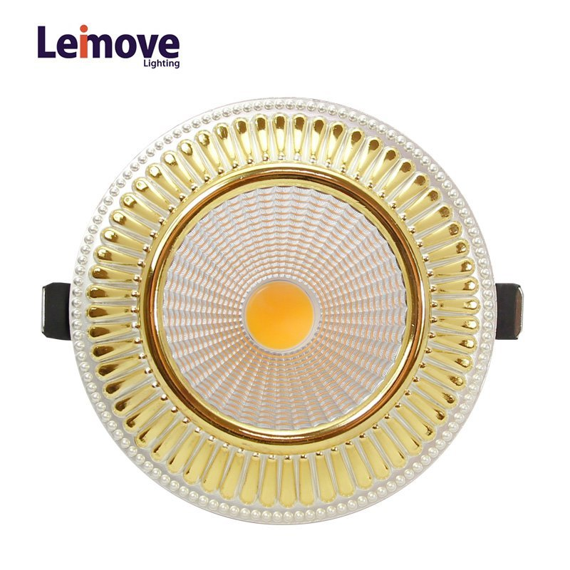 2017 New Cob Dimmable Led Downlight Malaysia, With 120mm Cut Out LM8018 Copper
