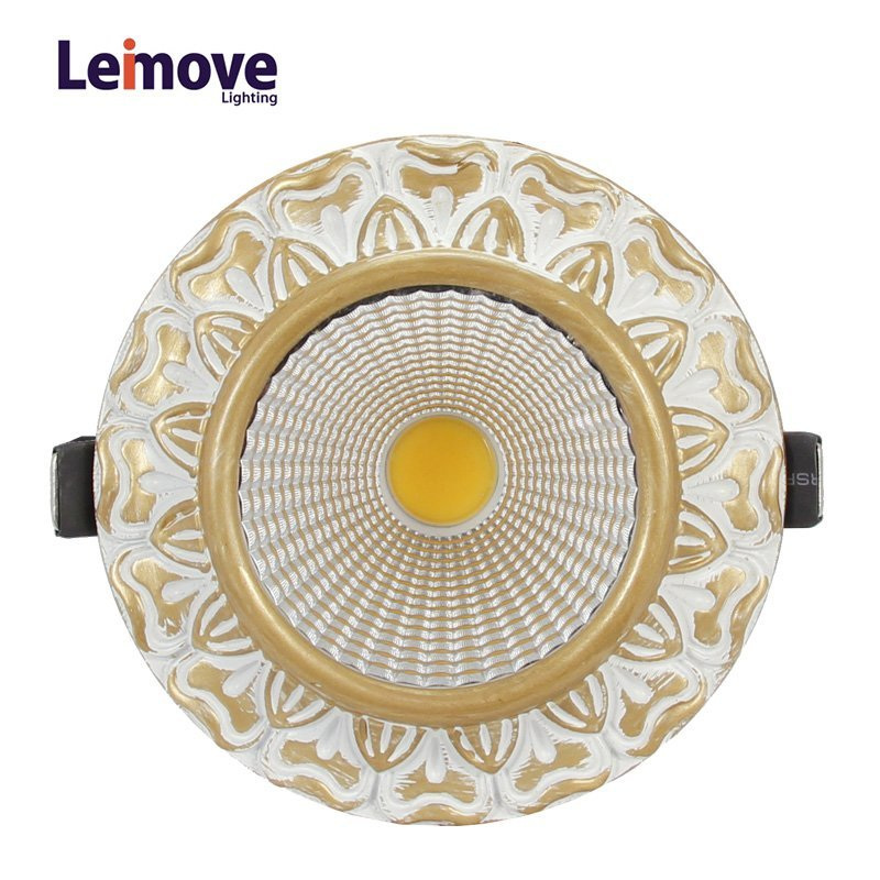 Decorative 10w gu10 led cob downlight  LM8019 matte gold