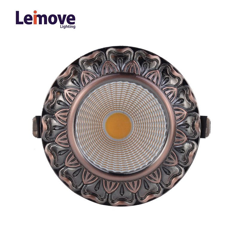 Decorative 10w gu10 Led Cob Downlight  LM8019 Copper