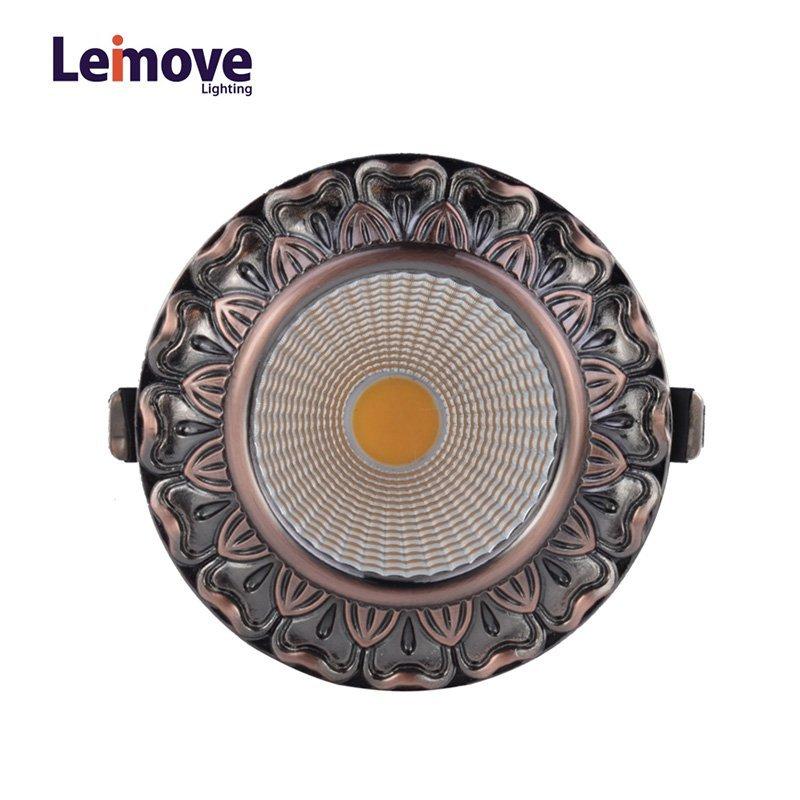 Decorative 10w gu10 Led Cob Downlight  LM8019 Copper