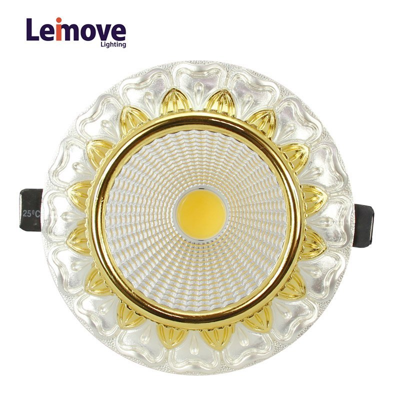 Decorative 10w gu10 Led Cob Downlight  LM8019 pearl silver/gold