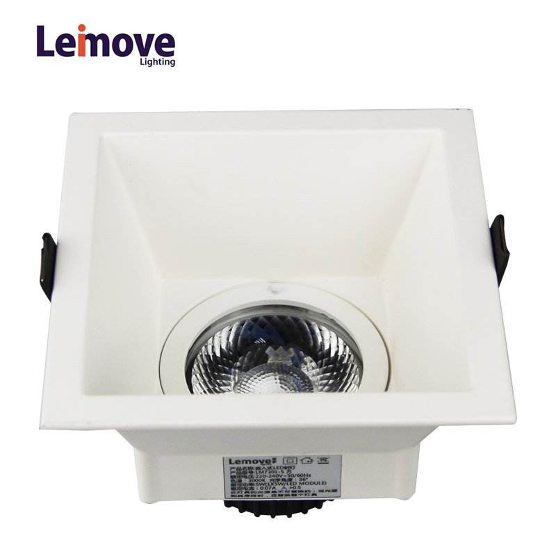 Anti-glare CRI90 flicker free 2 years warranty 500lm 5W LED downlight  LM7001