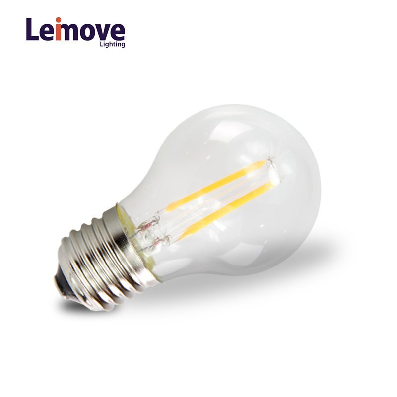 AC110V 2W e27 Glass LED Filament Bulb  LM-G50 2W