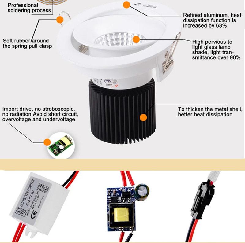 Custom flicker downlights led spot light Leimove free