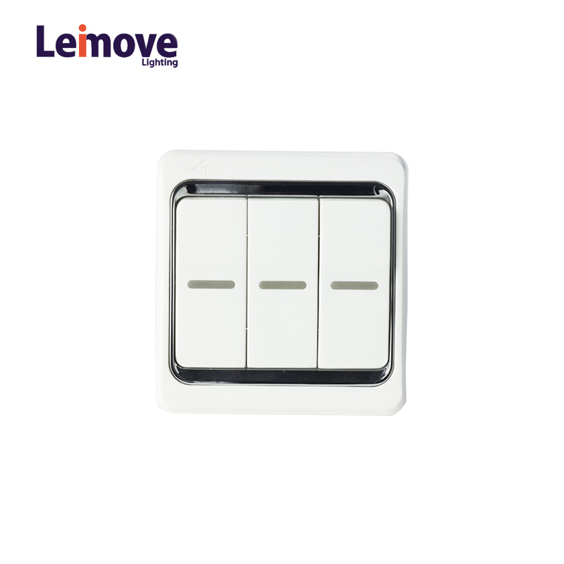 10A Three Gang 2 Way Electrician Wall Switch