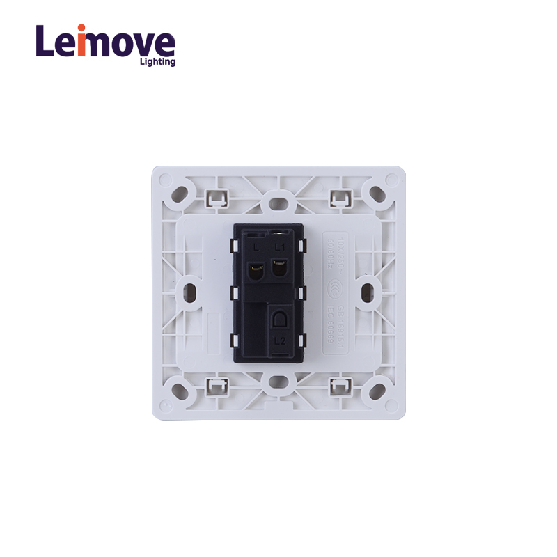 General 10A 250V 1 Gang 1 Way PC Wall Switch 86*86mm