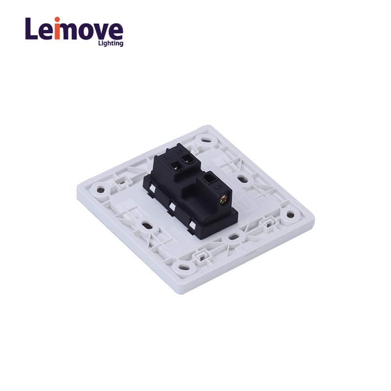General 10A 250V 1 Gang 2 Way PC Wall Switch 86*86mm