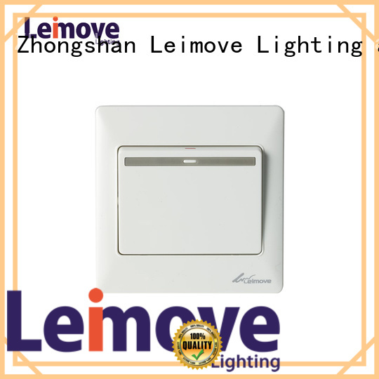 Leimove Brand switch white light switch plates electric supplier