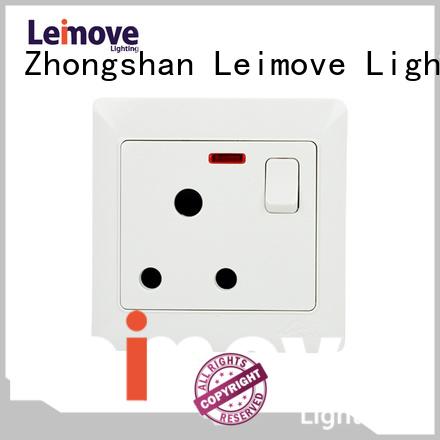 double Custom gang wall socket outlet Leimove fluorescent
