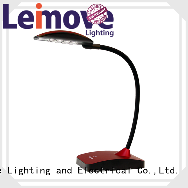 Leimove Brand reading modern led desk lamp brown supplier
