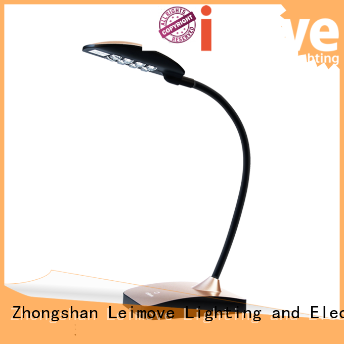 rose blue led Leimove Brand modern led desk lamp factory