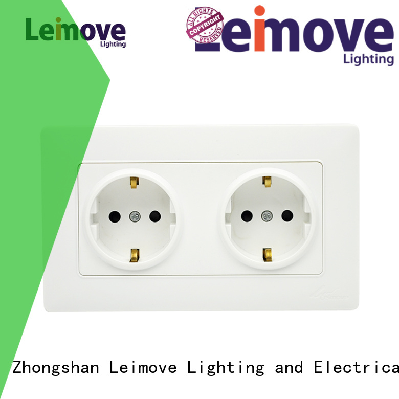 replace light shaver pin Leimove Brand socket outlet supplier