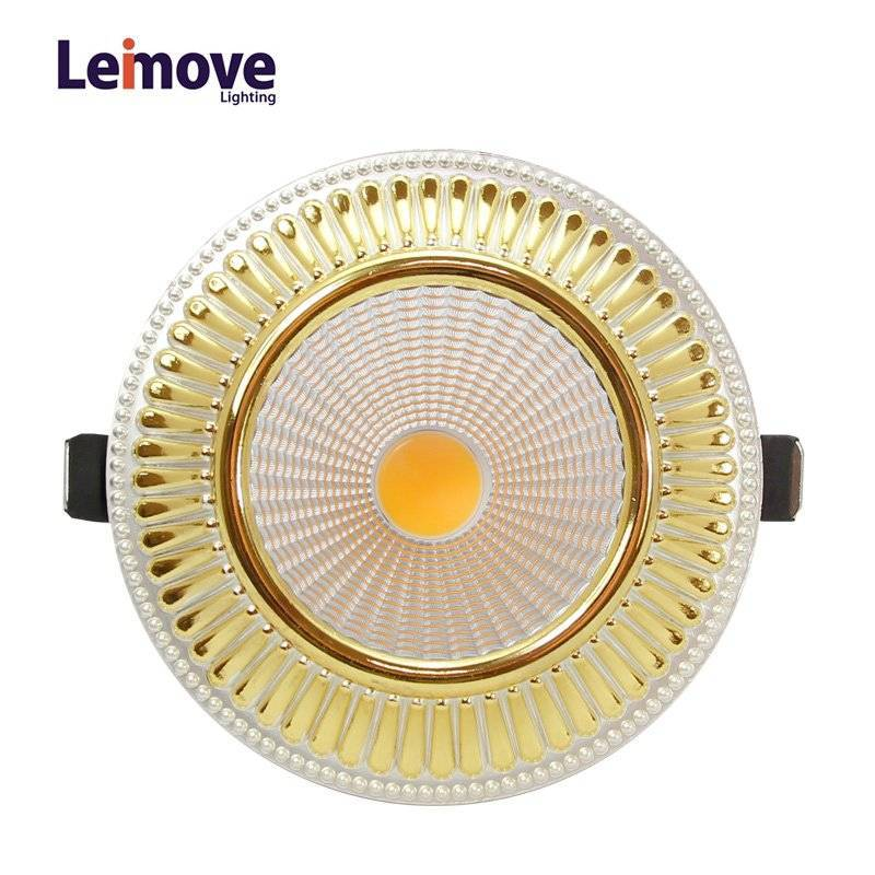 2017 new cob dimmable price led downlight malaysia, led downlight with 120mm cut out  LM8018 matte gold