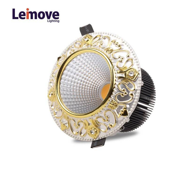 Leimove 10w Slim Led Round Downlight In Best Price LM8017 matte gold