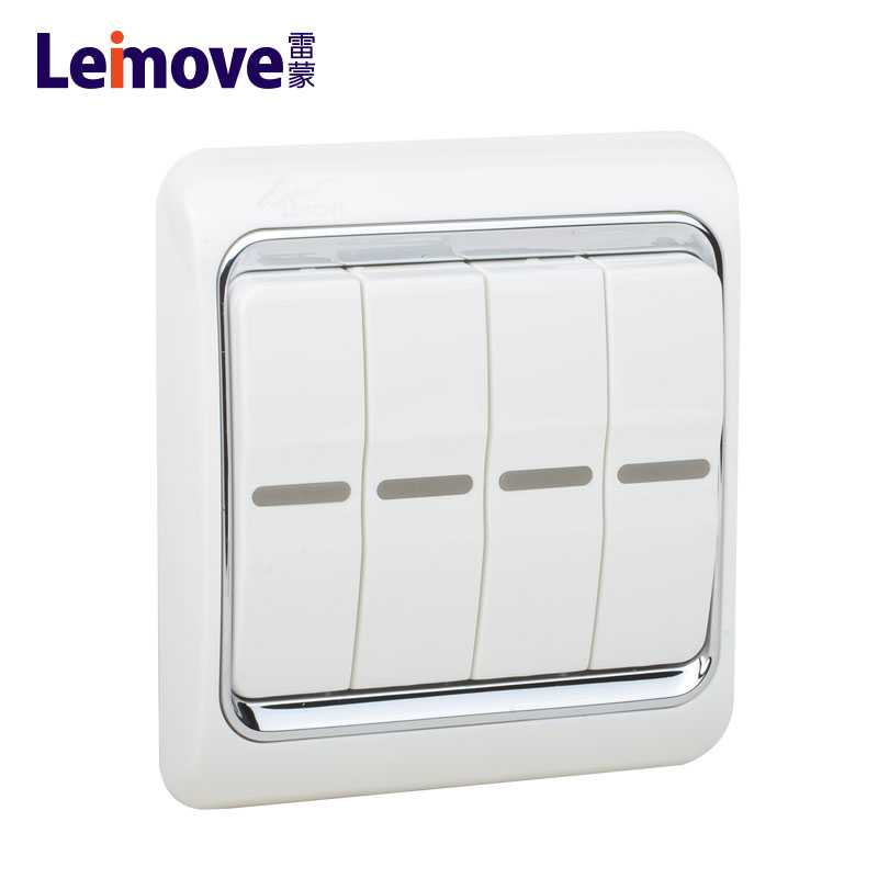 Leimove-Home Switch | Double Switch On Four Stilts Board Lm4-2a - Leimove Lighting-1