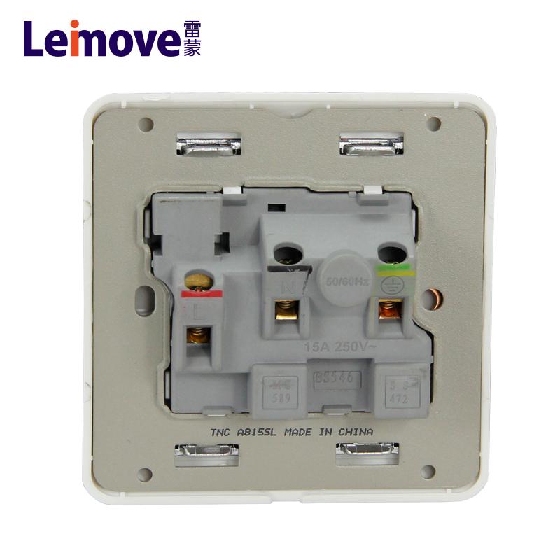One 15A round plug switch with light LMD15S1-DP(A)